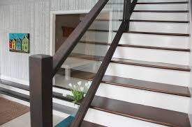 New modern railings eclectic-staircase