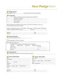Donation Pledge Form Template Unique Printable Pdf