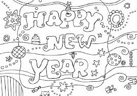 Small Picture New Year Coloring Pages chuckbuttcom