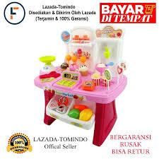 jawa barat tomindo mini market playset pink 668 24 mainan anak mainan supermarket mainan