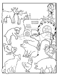 Small Picture Www Coloring Pages Com Animals Farm Animal Coloring Sheets