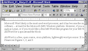 Mozillaquest Magazine Abiword A Free Decent Ms Word Clone For