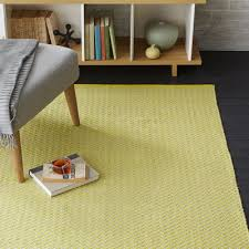 sun yellow skinny mini chevron jute rug