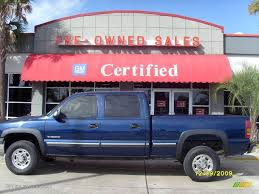 2002 Indigo Blue Metallic Chevrolet Silverado 1500 HD LT Crew Cab ...