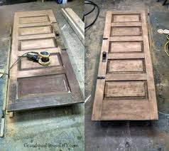 old wood doors refinish door