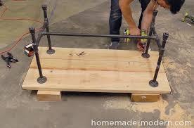 homemade modern diy ep68 pipe coffee table step 15