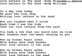 love letters in the sand andy williams ly