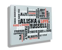 custom canvas prints on personalised wall art gifts with custom canvas prints with words art wordart canvas gifts