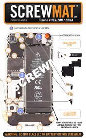 Iphone 4 Screw Chart Pdf Screwmats Make For Easy Diy Iphone Repairs Cnet
