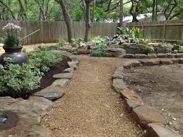 Backyard landscape - Water feature, hostas, containers with annuals and  perennials, large accent