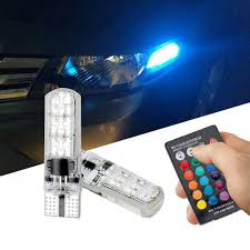 Automotive Led Light Controller Us 3 13 32 Off 2 Pcs Car Rgb Led Light T10 6 Smd 5050 16 Colors Led W5w Automotive Led Bulb Flash Strobe Fade Smooth Reading Lights Car Style In Led
