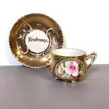Decorating With Teacups And Saucers Antique Porcelain Royal Vienna Footed Teacup Saucer Flower 92