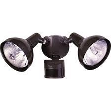 secure home 240 degree 2 head dual detection zone bronze halogen motion activated