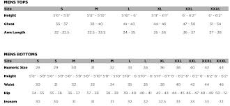 Fox Size Chart Demo Seca Jersey