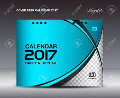 Blue Cover Desk Calendar 2017 Design Template, Calendar 2017 ...