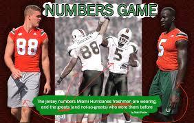 2012 Miami Hurricanes Football Depth Chart Miami Hurricanes Football Ums Newcomers Wear Jerseys