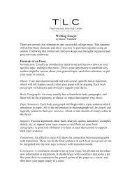 Essey Outline Essay Outline