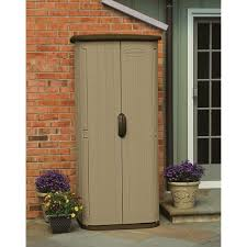 modest vertical deck box waterproof outdoor storage sears sheds at home depot