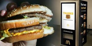 Big Mac Vending Machine Best In Other News McDonald's Is Trying Out A New ATM That Serves Fresh