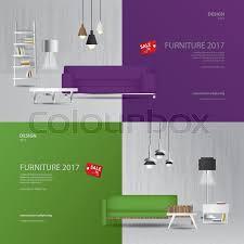 furniture sale banner. 2 Banner Furniture Sale Design Template Vector Illustration | Stock  Colourbox Furniture Sale Banner