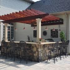 stone patio bar. Bigs Tone Patio Pergola Covered Outdoor Bar O Stone I