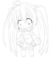 Anime Girls Coloring Pages Girl Printable To Print Cute For Adults