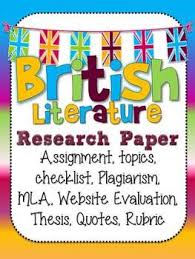 literature research paper The University MLA Research Paper Assignment