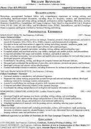 Technical Writer Resume Samples Sample Technical Resume Technical Writer And Editor