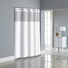com hookless rbh80my047 fabric shower curtain with built in peva liner white dobby pique home kitchen