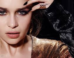 british actress emilia clarke wears a smokey eyeshadow look for the feature