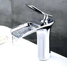 waterfall bathroom faucets waterfall bathroom sink faucet good brass single hole waterfall bathroom faucet led waterfall