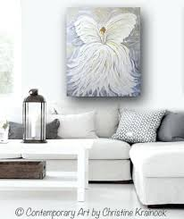 wall art white print abstract angel painting white grey gold guardian angel canvas print spiritual wall on spiritual wall art uk with wall art white chastaintavern