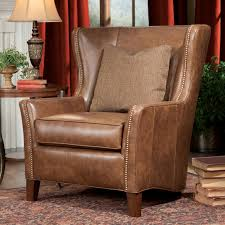 Accent Wingback Chairs Wingback Chair And Ottoman By Smith Brothers Wolf And Gardiner