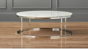 smart round marble top coffee table cb2 within carrara decorations 3