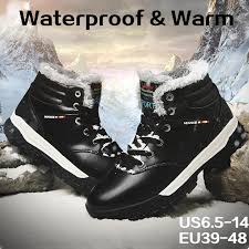 high quality waterproof fur lined work boot men snow boots winter leather boots outdoor shoes high top sneakers waterproof fashion sneaker womens ankle