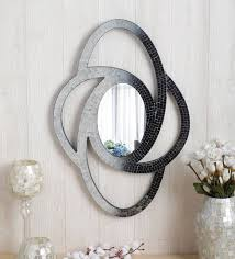 small oval mosaic wall mirror