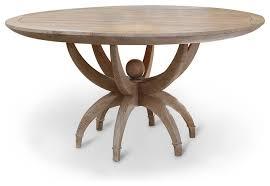 atticus coastal beach white oak contemporary round dining table