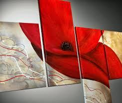 tableaux contemporain coquelicot rouge.jpg - Photo de Tableaux ...