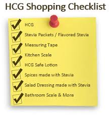 Checklist For Hcg Diet & The Hcg Shopping List - Everything You Need ...