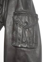 american express leather er jacket side pocket