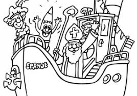 Kleurplaat Sinterklaas Met Stoomboot Ideeën Sinterklaas Knutselen
