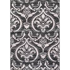 home ideas greatest black and white damask rug wilko wilde 120 170 janelle s room