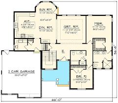 garage floor plans. Brilliant Garage Open Concept Home With Side Load Garage  89912AH Floor Plan Main Level In Floor Plans D