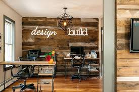 Industrial home office Decor Industrial Home Office View In Gallery Accent Wall Crafted From Reclaimed Wood Is Perfect For The Industrial Home Office Musiquemakerscom Industrial Home Office Industrial Home Office Design Tall Dining