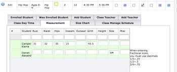 Measurement Calculation Chart Measurement And Size Chart Compudance Online Helpdesk 1