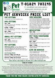 Pet Sitting Price List Under Fontanacountryinn Com