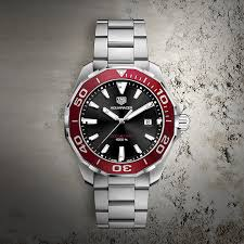 tag heuer watches the watch gallery® tag heuer aquaracer quartz stainless steel black dial mens watch