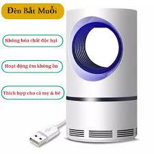 Máy bắt muỗi không mùi đèn LED, đèn bắt muỗi có quạt hút hình trụ mini -  Đầu cắm USB an toàn - Tiết kiệm điện - Dụng cụ diệt chuột, côn