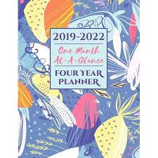 At A Glance Organizer 2019 2022 Four Year Planner One Month At A Glance A 48 Month Calendar Organizer Paperback