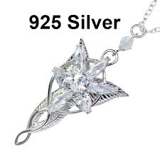 details about 925 sterling silver the lord of the rings arwen evenstar pendant necklace lotr
